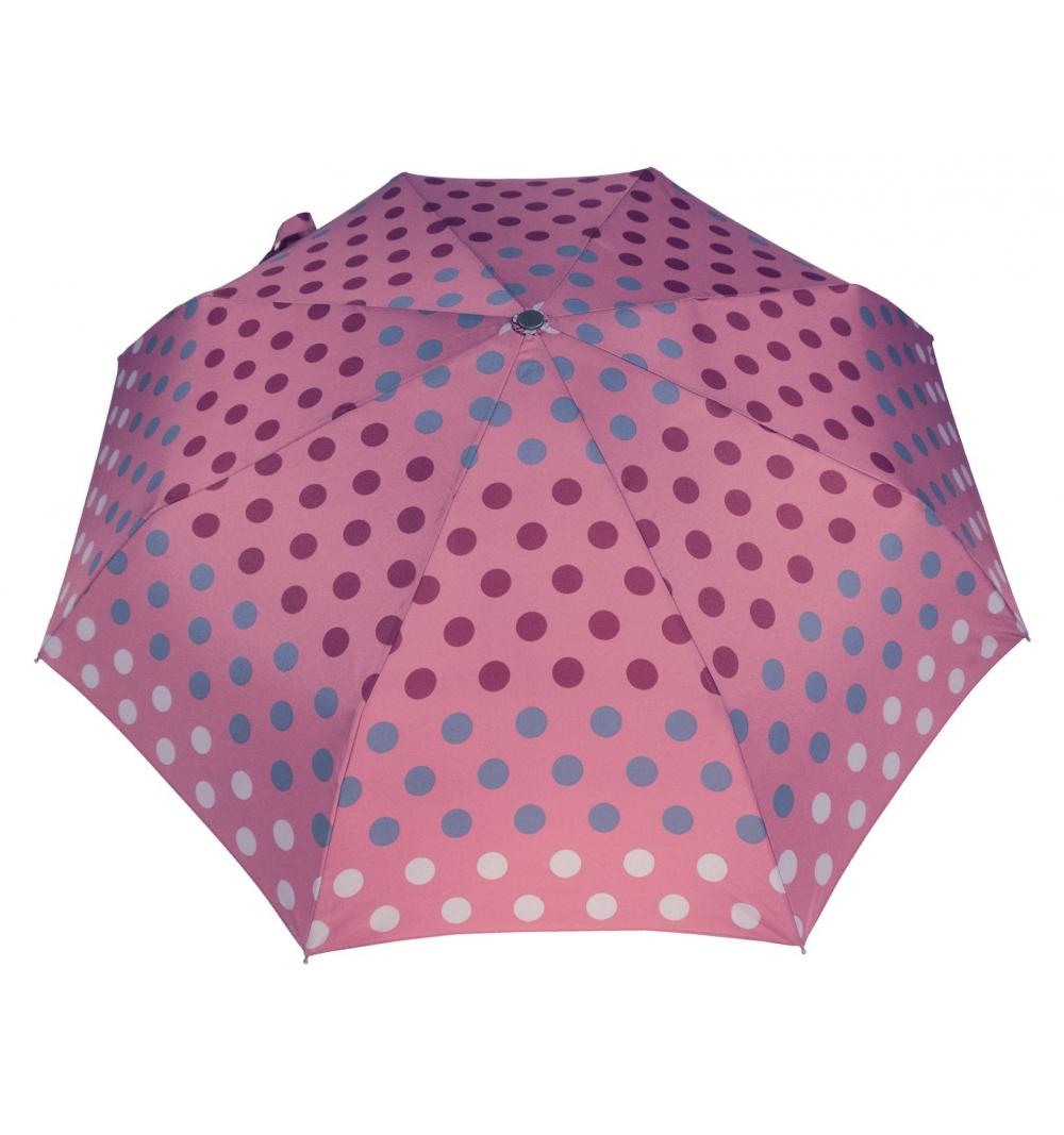 parasol w kropy - różowe