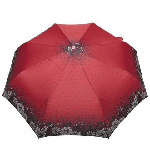 parasol w kwiaty na czerwonym