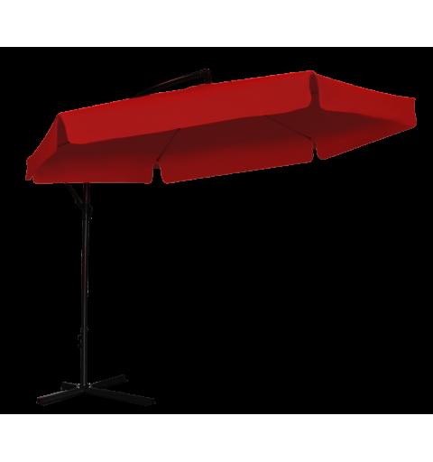 Parasol ogrodowy na wisięgniku - 6 paneli - czerwony