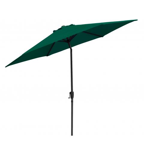 Parasol ogrodowy na słupku centralnym - 6 paneli - zielony