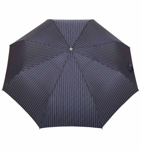 Striped AluLight Open&Close umbrella - navy blue