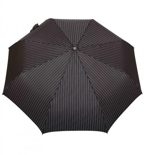 Striped AluLight Open&Close umbrella - black